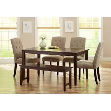 walmart dining table and chairs picturesque awesome dining chairs set of 6 room sets walmart innards