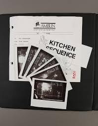 kitchen collectables store jurassic park early sequence printed storyboard binder current