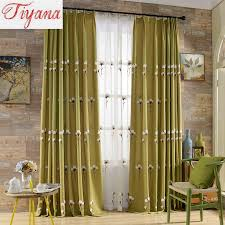 fancy yellow cotton curtains inspiration with yellow blackout