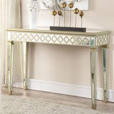 glass mirrored console table old antique narrow mirrored console table with high legs on sofa