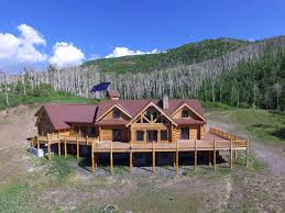colorado luxury mountain log home for sale on the grand mesa