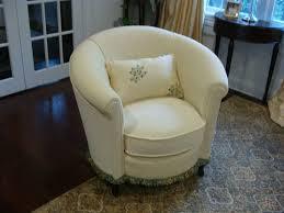 Armchair Leather Design Ideas Decoration Ideas Impressive White Leather Upholstered Barrel