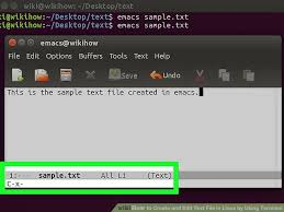 design text editor using c how to open and edit text files in linux by using terminal