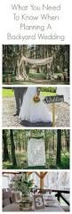 backyard wedding planning outdoor goods
