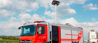 flexilight led light fire truck led light tower firefighting lights rosenbauer