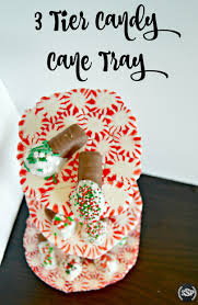 diy 3 tier candy cane tray christmascrafts crafting