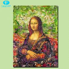 modern hd abstract mona lisa for womankind magazine oil painting