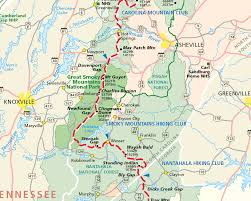 appalachian trail map tennessee map travel vacations