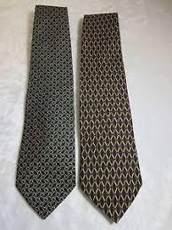 2 brothers neckties ties silk both blue background w
