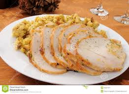 sliced turkey and dressing stock image image of butter 35261207