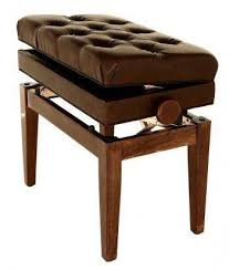symphony adjustable height cushion seat piano bench with storage