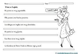 imagenes para colorear y escribir oraciones frases en inglés web del maestro