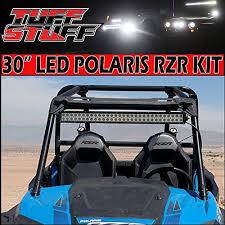 polaris rzr light bar amazon com tuff stuff led light bar mount polaris rzr xp 30 led