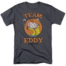 amazon com ed edd n eddy mens team eddy t shirt clothing