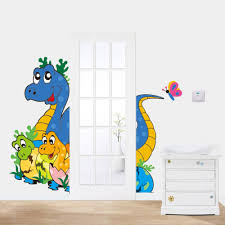 compare prices on dinosaur baby room decor online shopping buy cartoon cute baby dinosaur children s room living room backdrop stickers wholesale waterproof removable home decor