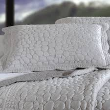 Grey Quilted Bedspread Pebbles Quilt Bedding