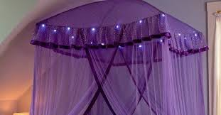Purple Bed Canopy Stylish Purple Canopy Bed For Girls Room Curtain Designs