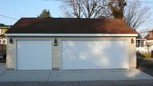 22x22 2 Car 2 Door Detached Garage Plans by Garage Builders Mn Garage Sizes Garage Designs