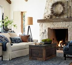 Partery Barn Furniture Captivating Fireplace With Mantle And Pottery Barn