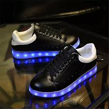 light shoes for mens mens led shoes with light up soles black white leather sale