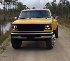 Classic Ford Diesel Truck - wheel offset 1995 ford f 350 flush leveling kit custom rims truck show