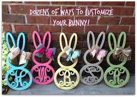 monogrammed bunny unfinished bunny monogram only 12 99 reg 22 99 wheel n