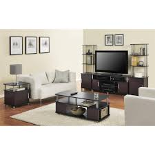 Tall End Tables Living Room by Ameriwood Home Carson Coffee Table Espresso Silver Walmart Com