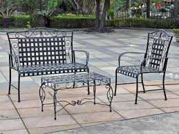 Wrought Iron Patio Coffee Table Black Wrought Iron Table And Chair Sets U003e Outdoor Furniture