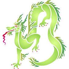 amazon dragon stencil size 5