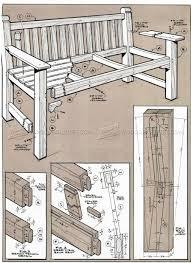 garden bench and table plans u2022 woodarchivist