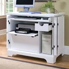 Small Component Cabinet Desk Furinno Go Green Compact Home Computer Desk Hidden Computer