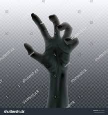 chalkboard halloween cat clear background undead hand isolated on transparent halloween stock vector
