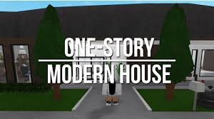 one story house roblox welcome to bloxburg one story modern house