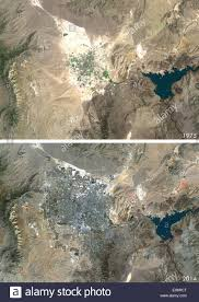 Satellite Map Usa Satellite View Of Las Vegas Nevada Usa In 1975 And 2013 This