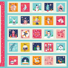 christmas advent calendar merry christmas advent calendar panel bloomerie fabrics