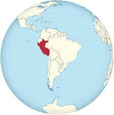 Map Of Peru South America by File Peru On The Globe South America Centered Svg Wikimedia