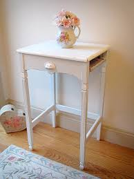 Pink Accent Table Vintage Aqua White Accent Table With Cubby Forever Pink Cottage