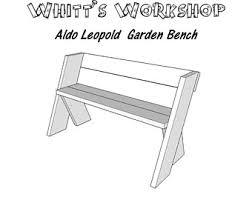 Aldo Leopold Bench Plans Furniture Plans Etsy