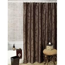 Shower Curtain Pattern Ideas Elegant Dark Brown Fancy Shower Curtains With Classy Grey Pattern