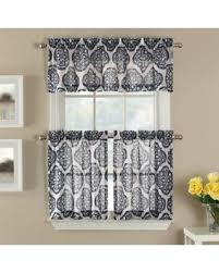 Navy Curtain Shopping S Deal On Castil 36 Semi Sheer Window