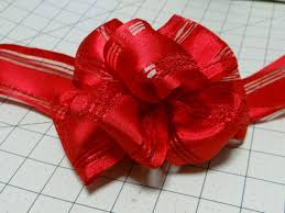 ribbon bow easy bow using wire edge ribbon