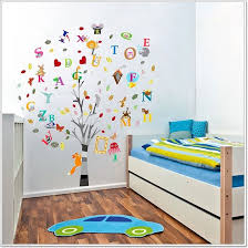 Letter Wall Decals For Nursery Combo Education Alphabet Animal Tree Wall Stickers Children