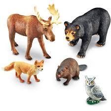 jumbo forest animals 5 pc animal figurines set educational