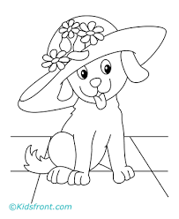 coloring pages draw puppy mother dog pups christmas st