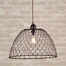 Chicken Wire Chandelier 179 00 Chicken Wire Basket Pendant Light 12