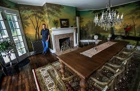 Dining Room Murals Edmonds Muralist Adds Personal Touch To Homes Heraldnet Com
