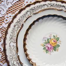 vintage mismatched plates for rent something vintage rentals
