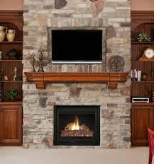 dark espresso u shape kitchen design living room fireplace brown