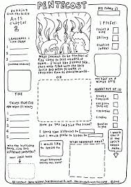 pentecost worksheet crafts and lessons for kids lent lesson plans