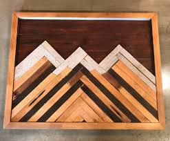 Wooden Art Home Decorations Reclaimed Wood Art Mountain Art Wall Decor Reclaimed Wood